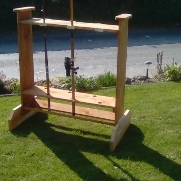 Fishing Rod rack.